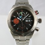 Aerospace automatic chronograph wristwatch limited edition titanium alloy case by Fiyta GA8500