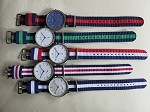 20mm fashionable nylon strap ideal for Bauhaus style watches