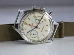 Sea-Gull 1963 re-issue China Air Force 1st aviator chronograph (19-zuan)