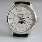 Vager Hauers four hands coaxial moon phase with date automatic watch