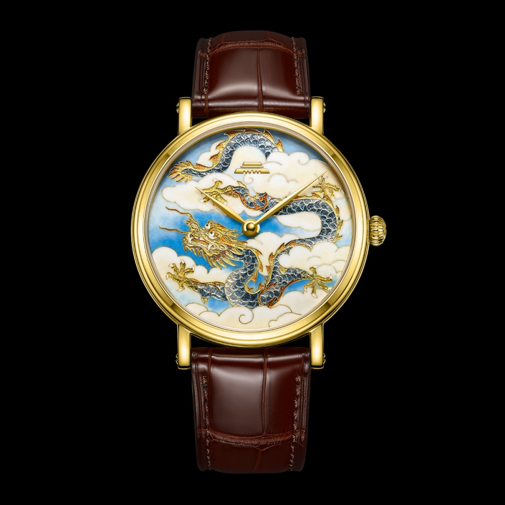 Gold Dragon cloisonné enamel watch oriental culture series BG951007 by Beijing watch factory limited edition 99 worldwide