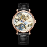 Rose gold Dragon cloisonné enamel watch by Beijing watch factory oriental culture series BG951009 limited edition 99 worldwide
