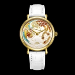 Gold Phoenix cloisonné enamel watch by Beijing watch factory oriental culture series BL951008 limited edition 99 worldwide