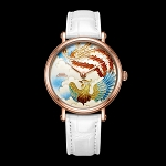 Rose gold Phoenix cloisonné enamel watch by Beijing watch factory oriental culture series BL951010 limited edition 99 worldwide
