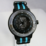 Fiyta 3-dimensional Time automatic wristwatch blue WGA868003