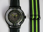 Fiyta 3-dimensional Time automatic wristwatch green WGA868002.BBB