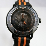 Fiyta 3-dimensional Time automatic wristwatch orange WGA868001
