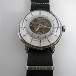 Fiyta 3-dimensional Time automatic wristwatch white WGA868000
