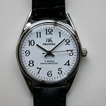 Shanghai big digits white dial hand-winding mechanical watch