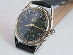 Classic Shanghai black dial mechanical wrist watch manual hand-winding