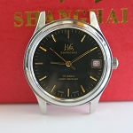Rare green dial Shanghai mechanical watch with date (manual movement)
