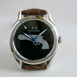 Black Shanghai Lao Luan pistol mechanical watch