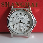 Silver Shanghai Roman numeral automatic watch with date
