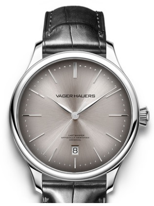 Small-sized 38.5mm ultra thin automatic watch by Vager Hauers, Swiss ETA2892 movement