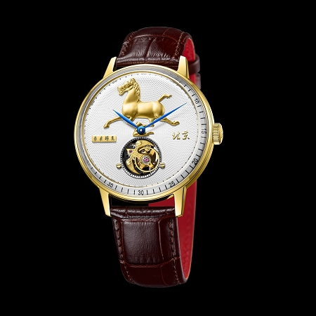 Horse-on-swallow tourbillon wristwatch BG950501