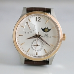 Golden Sea-Gull 217.423 moon phase automatic wristwatch with date and power reserve ST2153