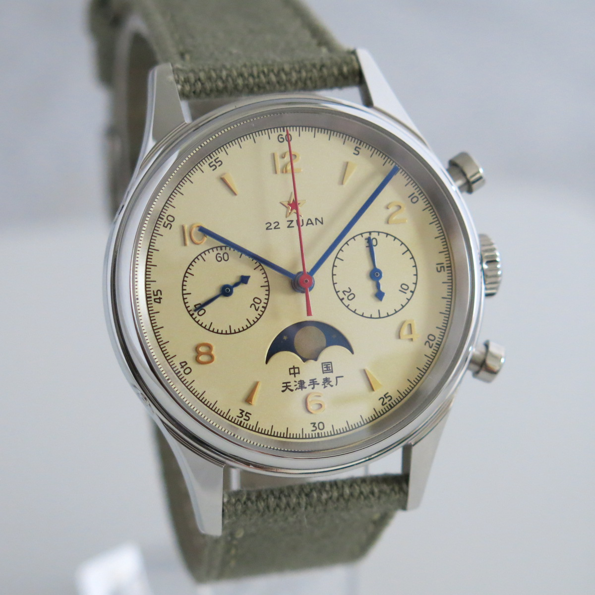 1963 reissue aviation chronograph with moonphase