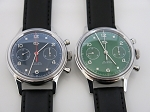 D304 reissue the 1st aviation chronograph of China airforce (green & blue dial)