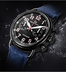 New army watch Sea-Gull black chronograph 811.23.5025H ST19 hand-winding
