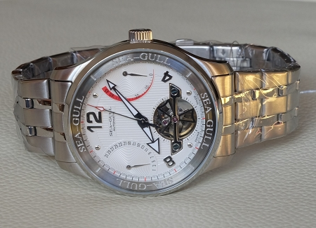 Sea-Gull D816.350 automatic wristwatch ST2505 power reserve flying wheel