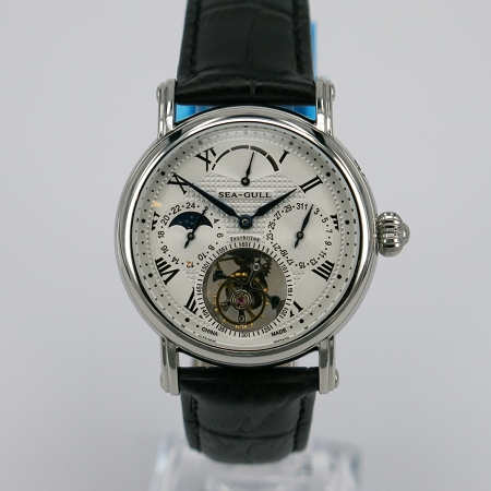 Sea-Gull 818.907 multifunctional tourbillon power reserve+date+24 hours indicator