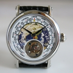 The Earth tourbillon wristwatch for fashionistas