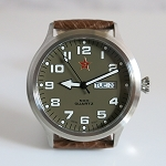 Low-cost Chinese people's liberation army quartz watch