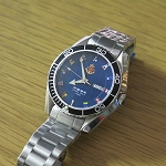 Classic navy automatic diver watch (blue, 12 signal flags)