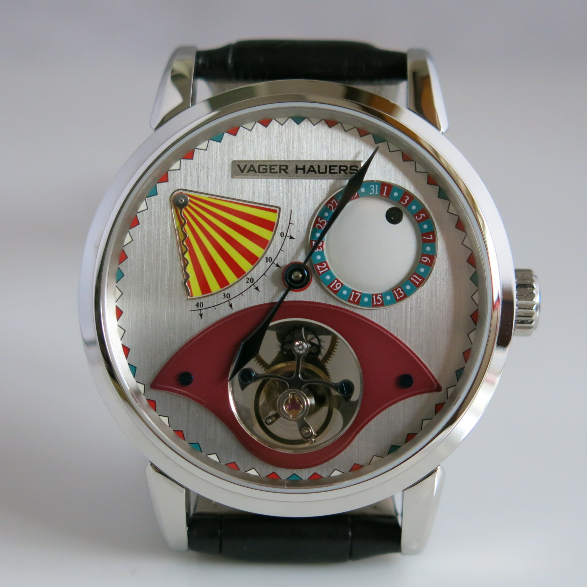 Clown tourbillon wristwatch to celebrate the 3rd anniversary of Vager Hauers