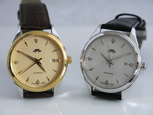 60th anniversary of Beijing Watch Factory automatic wristwatch with genuine diamond inlaid at 12 o'clock