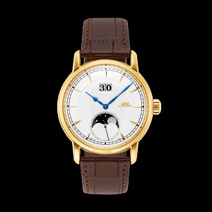 18K gold Confucianism enamel watch with big date and moonphase, long power reserve B24