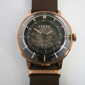 Fiyta 3-dimensional Time automatic wristwatch gold WGA868000.PBR