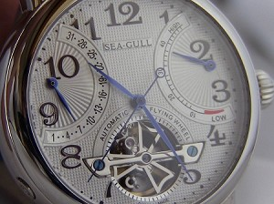 Sea-Gull M172S retrograde flying wheel power reserve automatic watch