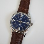 Rare blue Shanghai 8120 reissue nostalgic hand-wound mechanical wristwatch