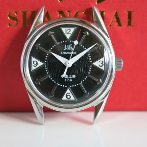 Rare black Shanghai 8120 reissue nostalgic hand-wound mechanical wristwatch