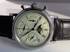 Sea-Gull M199S chronograph with moonphase ST1908