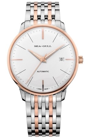 Water drop Sea-Gull 217.519 automatic wristwatch rose gold