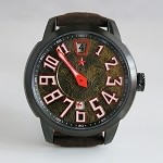 Single hand digital hours designer automatic wristwatch