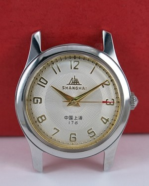 Classic Shanghai 611 reissue radiant lines hand-wound mechanical watch