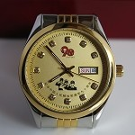 Golden automatic watch in memory of the 90th anniversary founding of Chinese People's Liberation Army